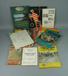 Assorted paper based material, related to cycling & 1956 Olympic Games