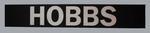 Replica MCG scoreboard banner, printed 'HOBBS'