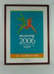 Melbourne 2006 Commonwealth Games logo poster, presented to Justin Madden