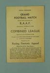 Programme, RAAF v Combined League football match