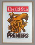 Poster -  Hawthorn Premiers 1991 Grand Final, cartoonist WEG