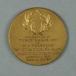 Medal, presented to W H Ponsford in 1934