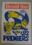 Poster -  West Coast Eagles Premiers 1992 Grand Final, cartoonist WEG