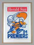 Poster -  West Coast Eagles Premiers 1994 Grand Final, cartoonist WEG