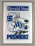 Poster -  North Melbourne Premiers 1996 Grand Final, cartoonist WEG