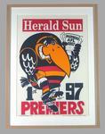 Poster -  Adelaide Crows Premiers 1997 Grand Final, cartoonist WEG