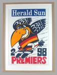 Poster -  Adelaide Crows Premiers 1998 Grand Final, cartoonist WEG