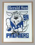 Poster -  North Melbourne Premiers 1999 Grand Final, cartoonist WEG