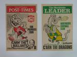 Three newspaper banners, Northcote FC & Preston FC