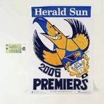 Seat ticket and WEG Premiership poster, 2006 AFL Grand Final