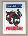 Poster -  Essendon Premiers 2000 Grand Final, cartoonist WEG