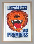 Poster -  Brisbane Lions Premiers 2001 Grand Final, cartoonist WEG