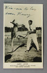 Postcard, featuring image of Harry Lister boxing a kangaroo
