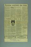 "Newspaper clipping, ""Running Everybody Else Down"" 4 Nov 1972"