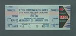 Ticket for 1990 Commonwealth Games cycling events at Manukau Velodrome, 31 January
