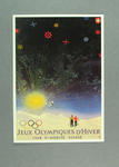 1948 Winter Olympic Games poster reproduced as a coloured postcard by the I.O.C. in 1984 and contained in Card Wallet