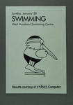 Results booklet for 1990 Auckland Commonwealth Games swimming events, 28 Jan