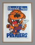 Poster -  Brisbane Lions Premiers 2002 Grand Final, cartoonist WEG