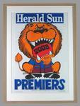Poster -  Brisbane Lions Premiers 2003 Grand Final, cartoonist WEG