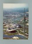 Postcard, depicts an aerial view of Munich Olympic Park c1972