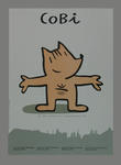 Poster featuring the 1992 Barcelona Olympic Games mascot, Cobi the Dog