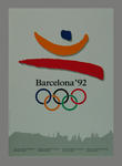 Poster featuring the 1992 Barcelona Olympic Games emblem