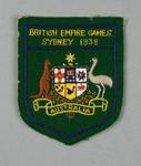 Australian team blazer pocket for 1938 British Empire Games, worn by Doris Carter
