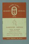 1956 Melbourne Olympic Games Programme for Association Football (Soccer)