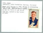 Trade card featuring Jim Park, Hoadleys Violet Nut Bar 1933