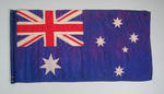 Australian flag, attached to pole