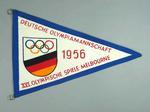 1956 Olympic Games German team souvenir pennant