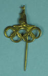 1956 Olympic Games stick pin, featuring kangaroo and Olympic Rings