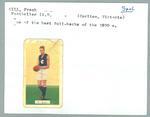 Trade card featuring Frank Gill, Hoadley's Chocolates 1934