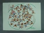 Original Cartoon drawn by Peter Nicholson - 1998 Grand Final Adelaide v North Melbourne, 26/9/98