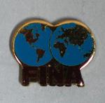 Tie tack, FINA with two world hemispheres