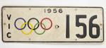 Vehicle registration plate, 1956 Olympic Games
