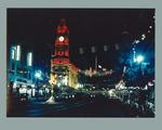Photograph of Collins Street with 1956 Olympic Games decorations