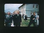 Colour slide of Prince Philip & Philip Miskin, during the 1956 Olympic Games