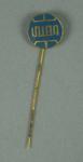 Stick pin, blue circular logo