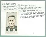 Trade card featuring Gordon Coventry, BDV Cigarettes 1933