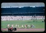 Slide, depicts 1956 Olympic Games athletic events