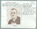 Trade card featuring Garnet Campbell, Wills Cigarettes 1933