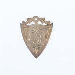 Silver shield-shaped medal, won by Lily Beaurepaire in a swimming race - 1906