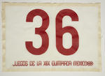 Athlete's number worn by Maureen Caird, 1968 Olympic Games