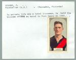 Trade card featuring Clarrie Hearn, Hoadleys Violet Nut Bar 1933