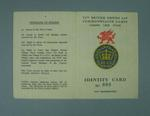 Identification card issued to Percy Cerutty, 1958 British Empire Games