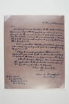 Reproduction of letter from A Broadfoot to C La Trobe, requesting permission to fence the area now known as the Melbourne Cricket Ground