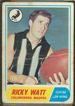 1969 Scanlens (Scanlens) Australian Football Ricky Watt Trade Card