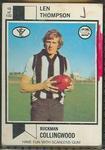 1974 Scanlens (Scanlens) Australian Football Len Thompson Trade Card
