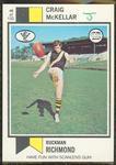 1974 Scanlens (Scanlens) Australian Football Craig McKellar Trade Card